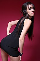 Slim Non Nude Teen Model Tight Dress - Picture 9